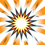 Explosion comic book background. Bomb boom Royalty Free Stock Photo