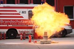 Explosion commandée Photographie stock libre de droits