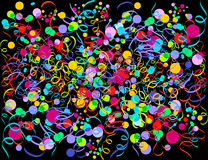 Explosion of confetti Royalty Free Stock Images