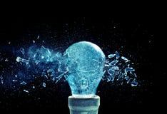 Explosion d'ampoule images libres de droits