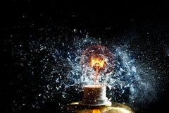 Explosion d'ampoule photos libres de droits