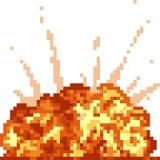 Explosion d'art de pixel de vecteur Photo libre de droits