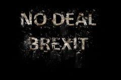 Explosion d'aucun texte de Brexit d'affaire image stock