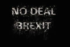 Explosion d'aucun texte de Brexit d'affaire photographie stock