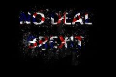 Explosion d'aucun texte de Brexit d'affaire dans des couleurs d'Union Jack image libre de droits