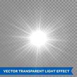 Explosion d'instantané du soleil d'étoile Lumière de lueur de Ray avec la fusée de lentille illustration libre de droits