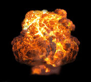 Explosion in dark. Isolated on black background stock image