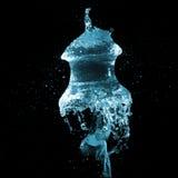 Explosion de ballon d'eau formée comme la méduse Images stock