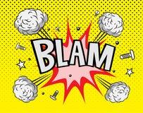 Explosion de bande dessinée Photographie stock libre de droits