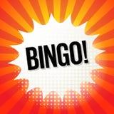 Explosion de bande dessinée avec le bingo-test des textes Photos stock