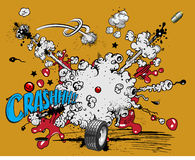 Explosion de bande dessinée - crash ! illustration stock