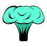 Explosion de bande dessinée d'icône de bombe nucléaire illustration stock