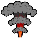 Explosion de bande dessinée. eps10 Images libres de droits