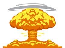 Explosion de bombe atomique illustration libre de droits