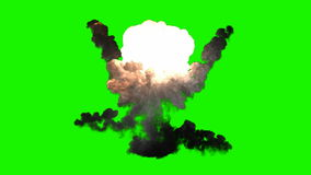 Explosion de bombe de Chromakey avec de la fumée clips vidéos