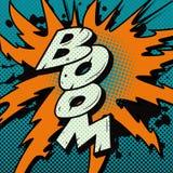 Explosion de boom de bande dessinée images libres de droits
