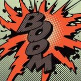Explosion de boom de bande dessinée images stock