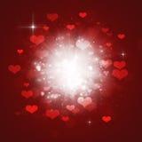 Explosion de coeurs de Valentine Photographie stock