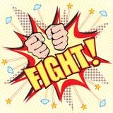 Explosion de combat de bande dessinée Image libre de droits
