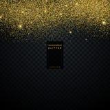 explosion de confettis de fond de texture de scintillement d'or Photographie stock libre de droits