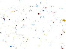 Explosion de confettis sur le fond blanc Image libre de droits