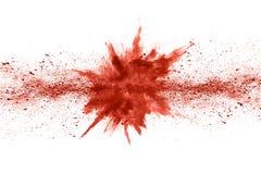 Explosion de corail vivante de poudre de couleur sur le fond blanc photo libre de droits