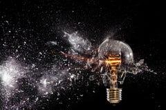 Explosion de courant électrique Photographie stock libre de droits