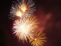 Explosion de feu d'artifice Photo stock
