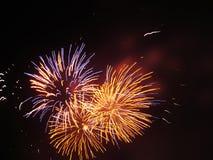 Explosion de feu d'artifice Photo libre de droits