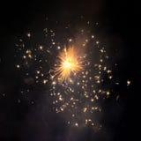 Explosion de feux d'artifice dans le ciel Image stock