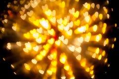 Explosion de fond de tache floue de coeur de bokeh Photo libre de droits