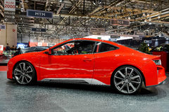 Explosion de Gumpert à Genève 2014 Motorshow Image stock