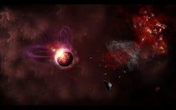 Explosion de l'espace Photos libres de droits