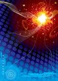 Explosion de l'espace de technologie Photo libre de droits