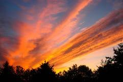 Explosion de lever de soleil Photos stock