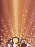 Explosion de lever de soleil de vecteur Images stock