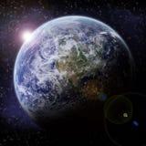 Explosion de planète - exploration d'univers illustration stock
