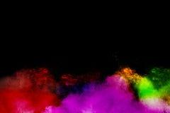 Explosion de poudre de couleur images libres de droits