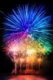 Explosion de pyrotechnie images libres de droits
