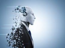 Explosion de robot d'AI illustration stock
