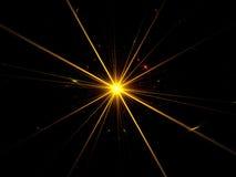 Explosion de supernova de fractale Images libres de droits
