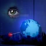 Explosion de technologie du monde illustration libre de droits