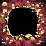 Explosion de trou de bande dessinée photos libres de droits