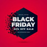Explosion de vente de Black Friday illustration libre de droits