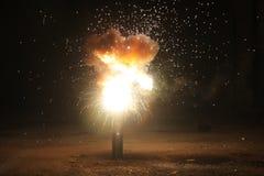 Explosion in der alten Halle Lizenzfreies Stockbild