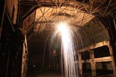 Explosion in der alten Halle - lange Belichtung Lizenzfreies Stockfoto