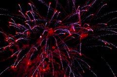 Explosion der Feuerwerke Stockfoto