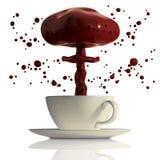 Explosion der heißen Schokolade. Stockbild