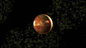 Explosion der Planeten stock abbildung