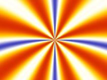 Explosion der symmetrischen Strahlen Stockfoto
